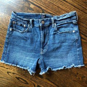GAP Cut Off Denim Jean Shorts Size 28